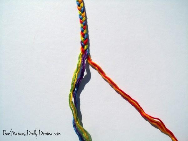 Rainbow friendship bracelets: a fun St. Patrick's Day craft for kids | One Mama's Daily Drama