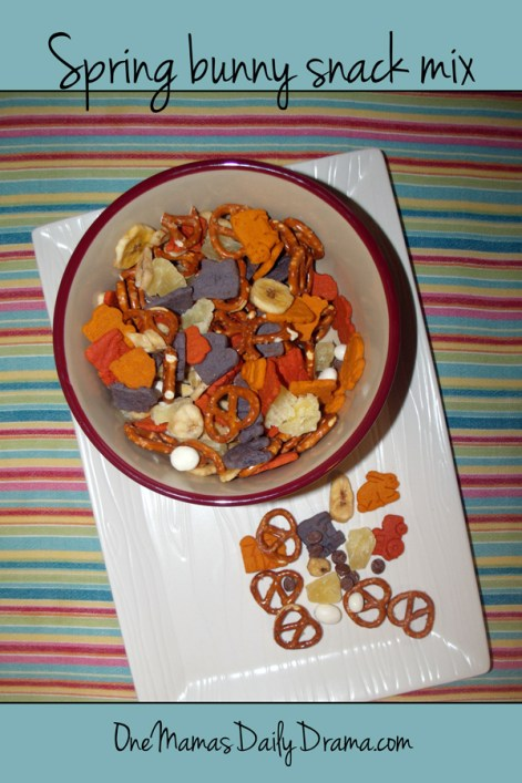 Spring bunny snack mix | One Mama's Daily Drama