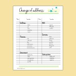 Printable change of address checklist