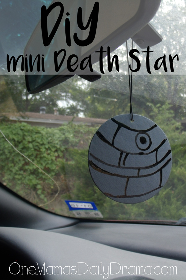DiY mini Death Star | upcycled air freshener to Star Wars decor