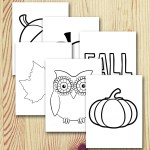 Fall coloring book printable for zentangles