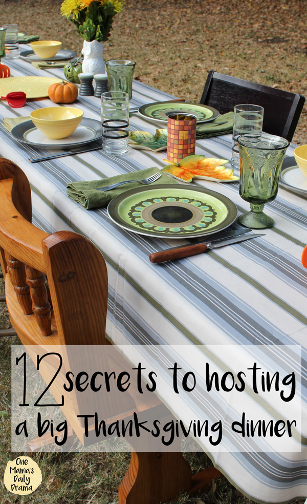 12 secrets to hosting a big Thanksgiving dinner