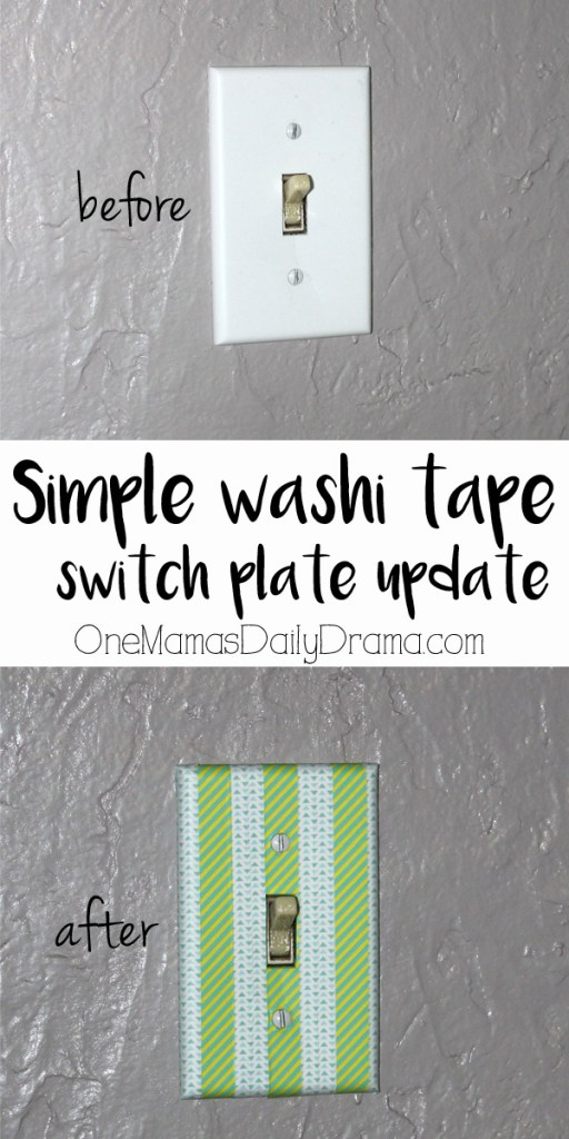 Switch plate update using washi tape