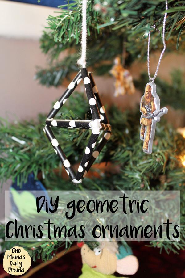 DiY geometric ornaments | Christmas ornaments tutorial