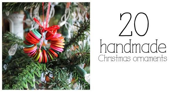 20 handmade Christmas ornaments | roundup by OneMamasDailyDrama.com