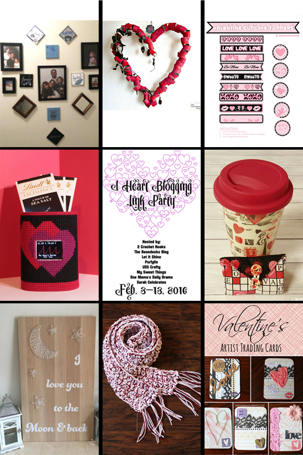 I Heart Blogging link party & Valentine's Day craft roundup | from One Mama's Daily Drama