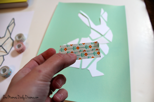 DiY washi tape bunny art | One Mama's Daily Drama