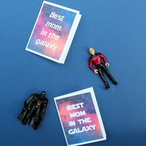 Printable geeky Mother's Day cards