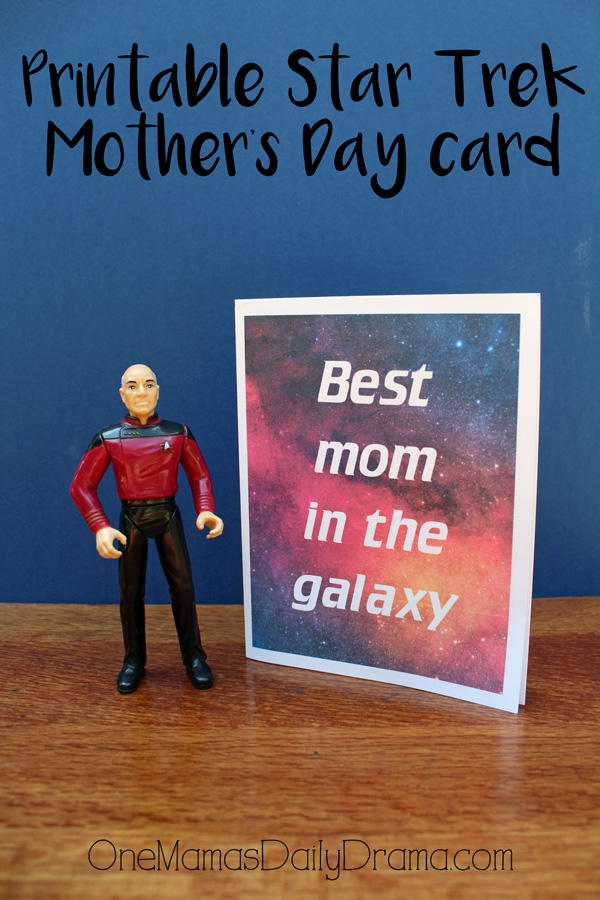 Printable Star Trek Mother's Day card