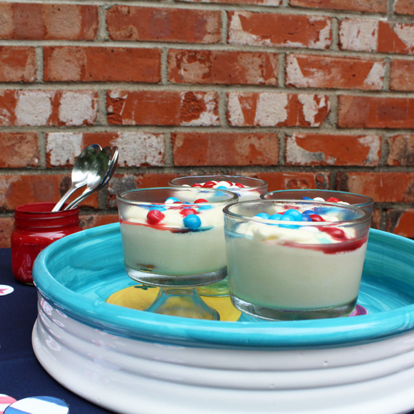 American summer no-bake cheesecake cups