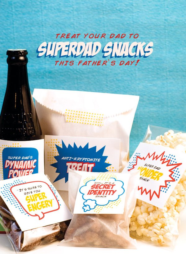 Superdad snack printables | Pizzazzerie