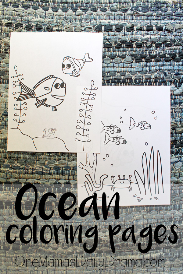 Printable ocean coloring pages inspired by Finding Nemo