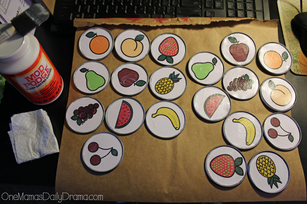 Printable fruit memory game | mod podge into place