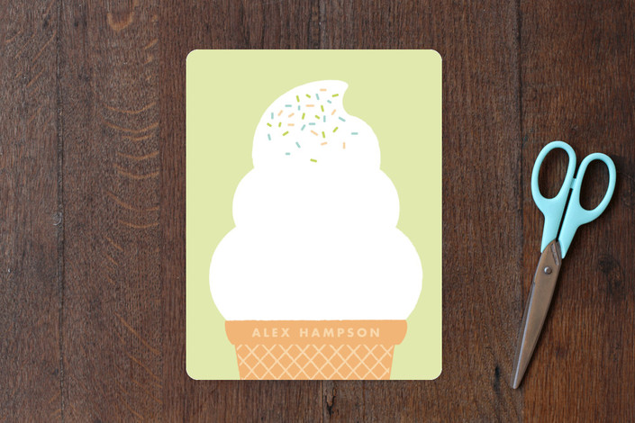 Minted.com ice cream kids' stationery