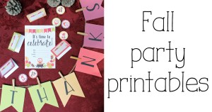 Fall party printables pack: alphabet banner, tent cards, party circles + invitation   OneMamasDailyDrama.com