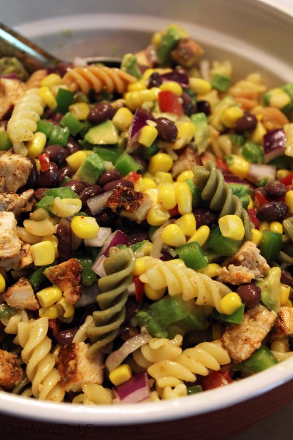 Southwest pasta salad | One Mamas Daily Drama