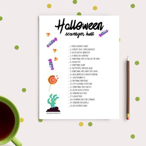 Tween and teen Halloween scavenger hunt