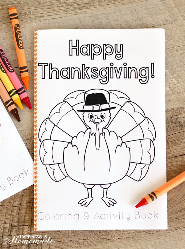 Thanksgiving kids activities   Thanksgiving coloring book from Happiness is Homemade