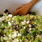 Simple chopped Greek salad recipe from OneMamasDailyDrama.com