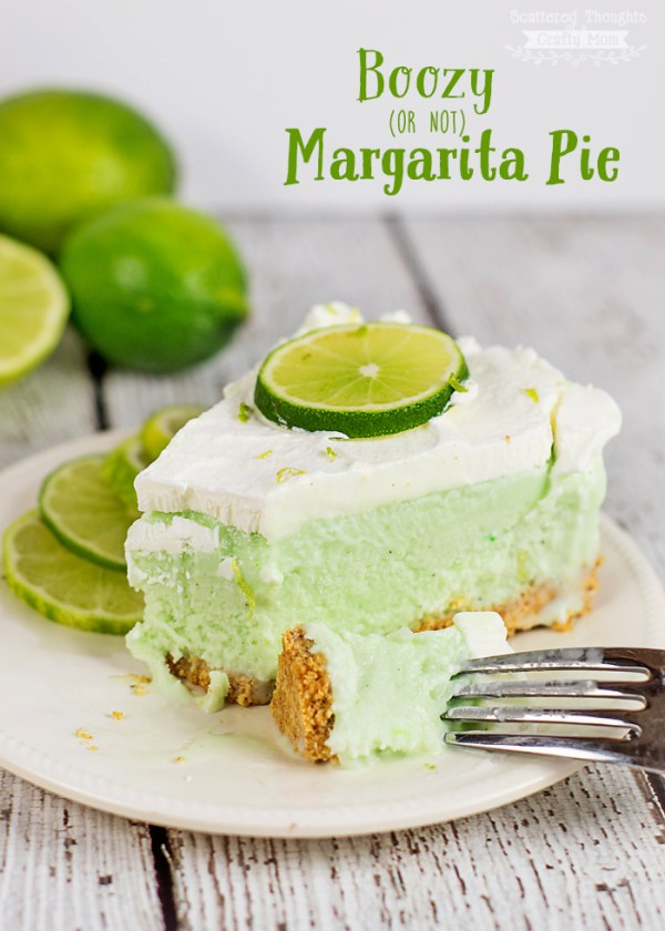 Frozen Margarita Pie {with or without alcohol} | Scattered Thoughts of a Crafty Mom