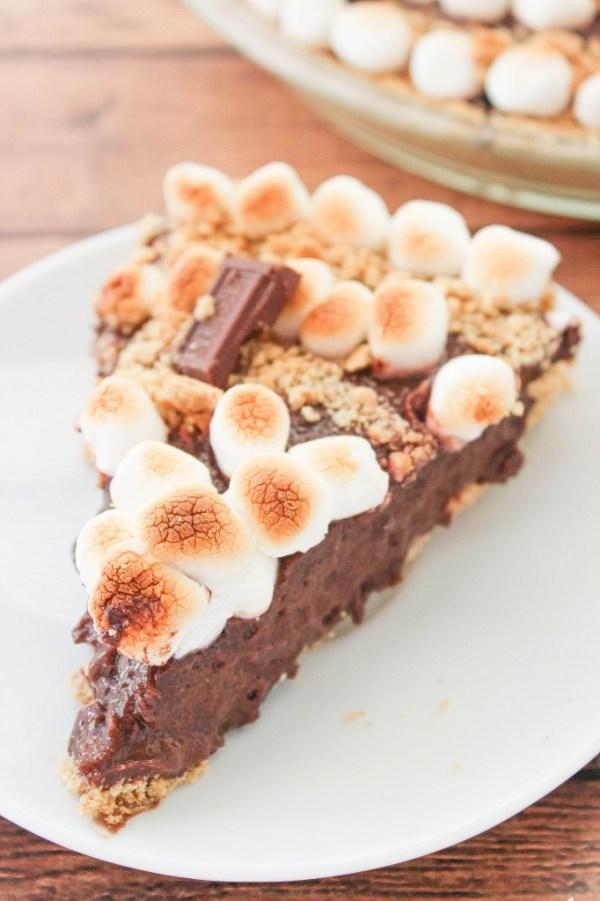 No Bake Smores Pie   Baking Beauty