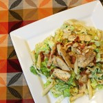 Chicken caesar pasta salad with bacon | OneMamasDailyDrama.com