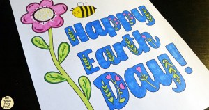 Happy Earth Day | Printable coloring page