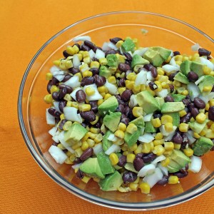 Simple southwest bean corn salad