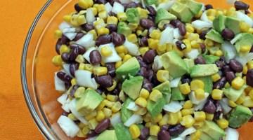 Simple southwest bean corn salad