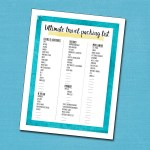 The ultimate travel packing list printable