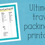 Ultimate travel packing list printable