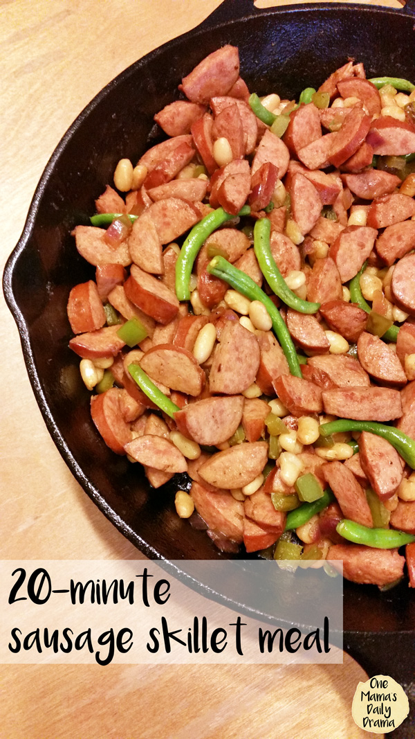 20-minute sausage skillet meal | One Mama's Daily Drama