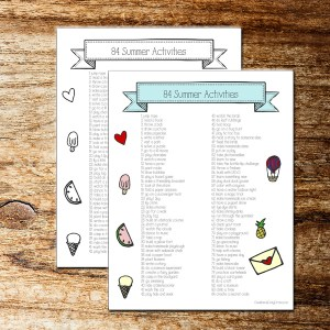 84 kids activities for summer - free printable from One Mama's Daily Drama