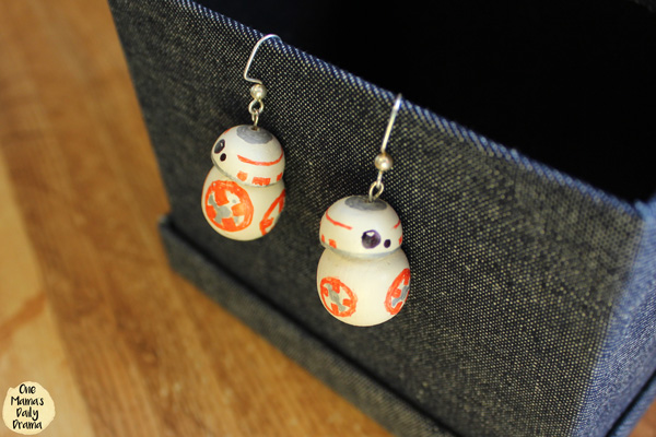 Star Wars craft: BB-8 earrings