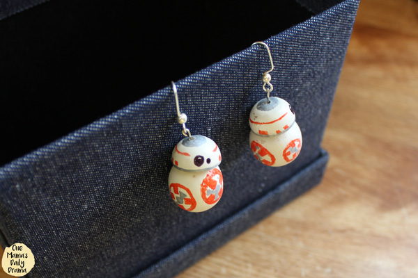 Star Wars droids BB-8 earrings