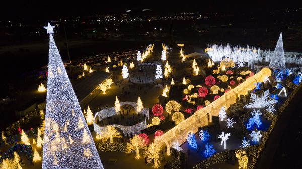 Gray's Studio provides an aerial view of Enchant Christmas - and you still can't see everything!