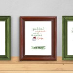 Printable winter wall art quotes {free download}