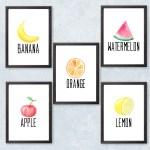 Printable fruit wall art {free download}