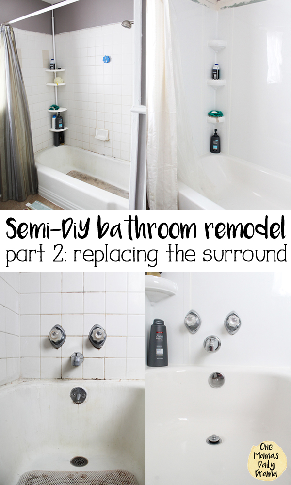 Semi-DiY bathroom remodel {part 2} | replacing the bathtub surround tile