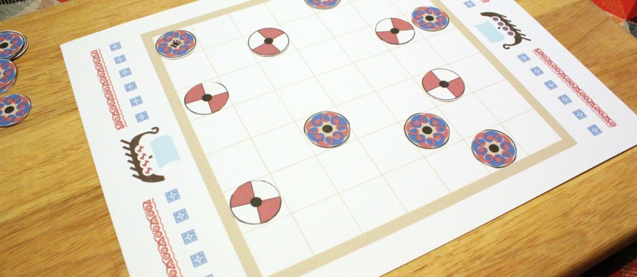 Printable tafl viking chess game