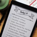 Printable reading list for bullet journal or iPad