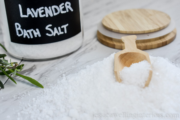Homemade bath salts - label the container