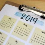Printable 2019 calendar + planner tour