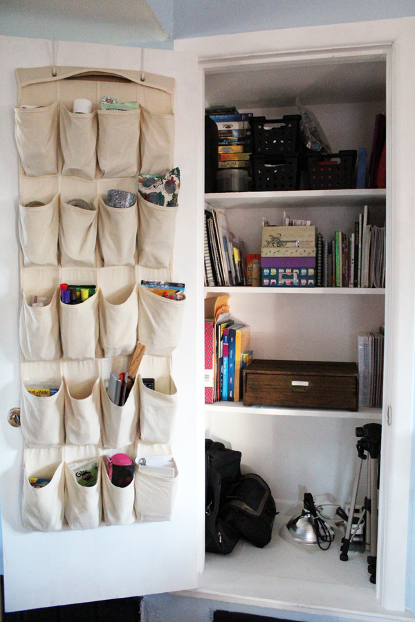 I finally tackled cleaning up my desk area and getting my office closet organized once and for all. See the before and after on my home office organization project, plus tips for keeping it neat!