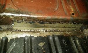 exposed welding left side