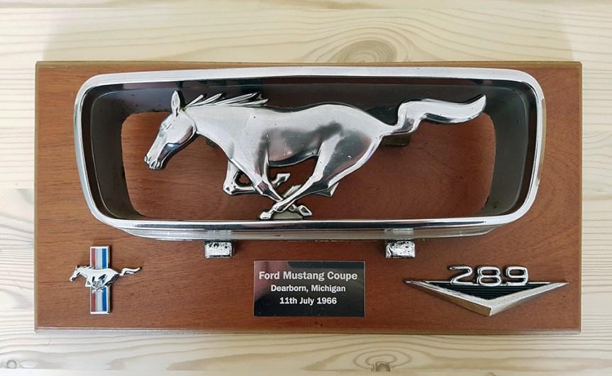 A Mustang Plaque Idea