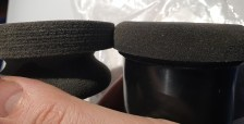 XL on the left, Puck on the right