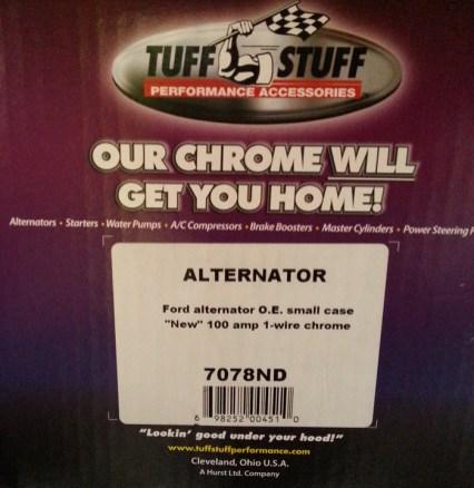 tuff stuff amp one wire chrome alternator custom made tuff stuff box