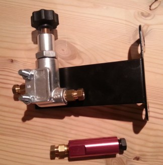 front pressure valve and rear proportioning valve