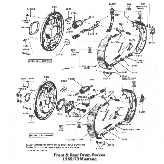 Front & Rear Brake Diagrams | One Man And His Mustang